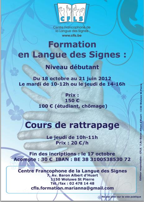 cours de langue des signes acc u00e9l u00e9r u00e9s  niveau d u00e9butant  niveau approfondi  ou cours de langue des